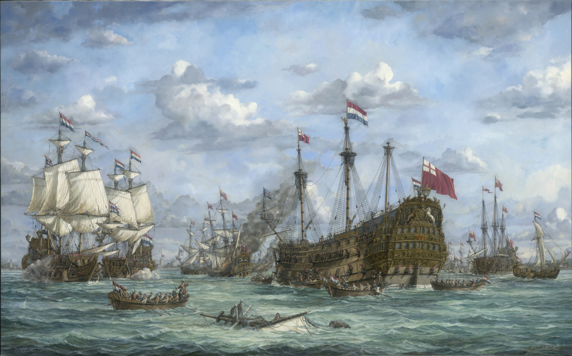 The Raid on the river Medway , Chatham 1667